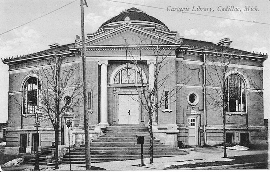 Cadillac, Michigan Carnegie Library (before)