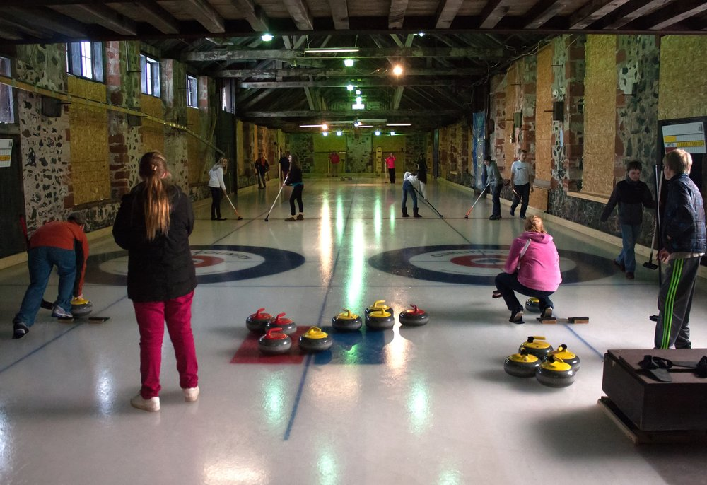 Kids curling in Calumet
