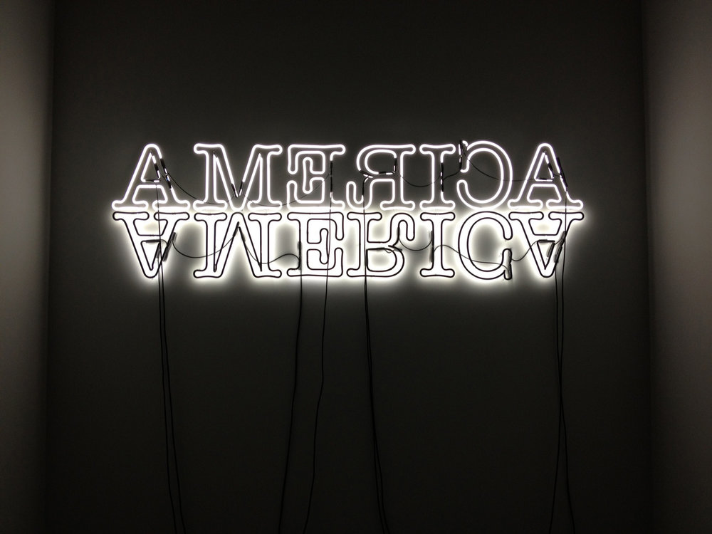 America, by Glen Ligon