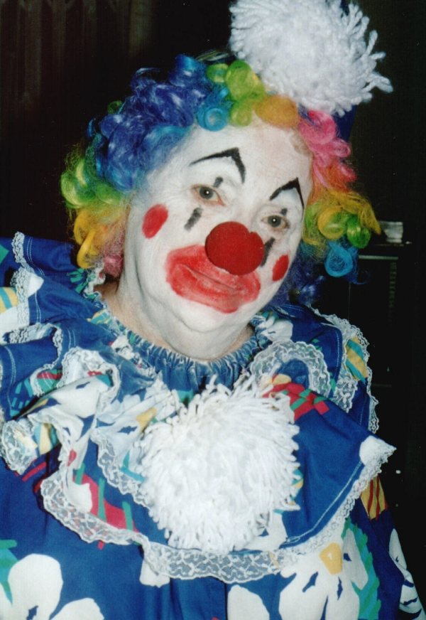 Grammie in her clown costume