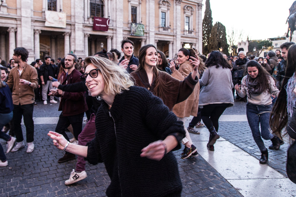 Demonstration in Campidoglio, Rome  March 2017
