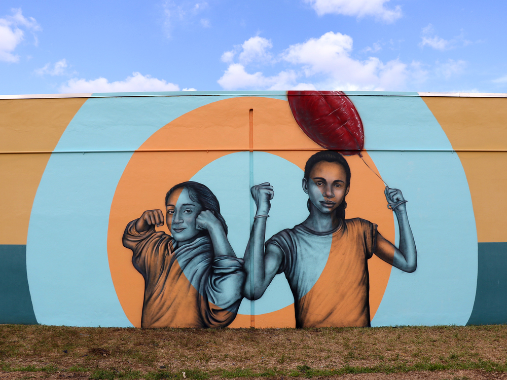 Miami , Florida  June 2015   Spray Paint and Latex Paint,   30x  2  0 feet   Donation to Dunbar Elementary  Funded by Audrey Waple