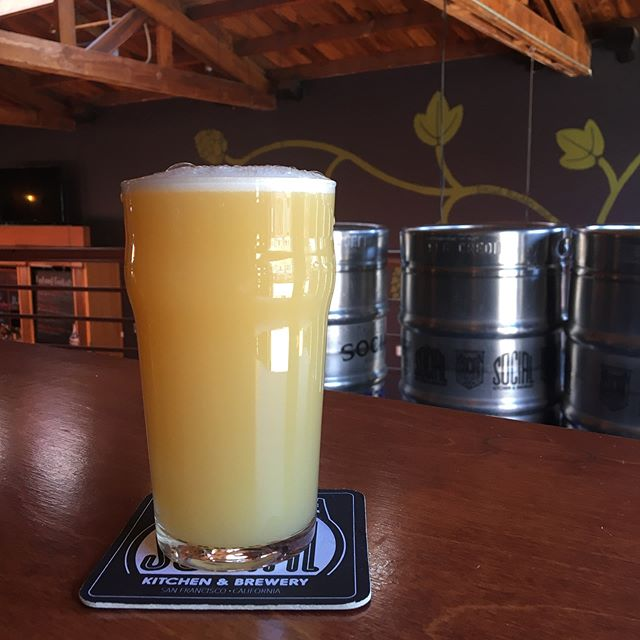 We have a new IPA on tap called Get that Shmoney.  Brewed with malted and flaked oats, fermented with Vermont Ale yeast and hopped with El Dorado and Citra for layers of bright orange/lime peel (El Dorado) and sweet orange and pineapple (Citra). Despite all the haze and oats this beer is not heavy but rather soft and refreshing!