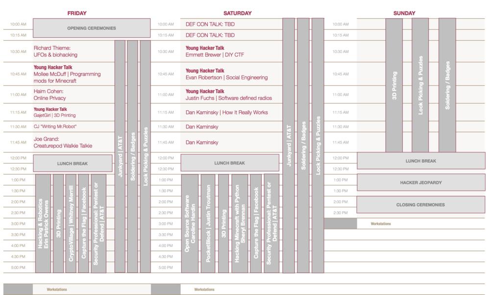 Full 2016 Schedule