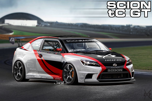 Final Rendering of the Scion tC GT