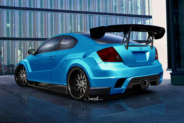 Original Rendering for 2008 Scion Tuner Challenge - Rear Angle
