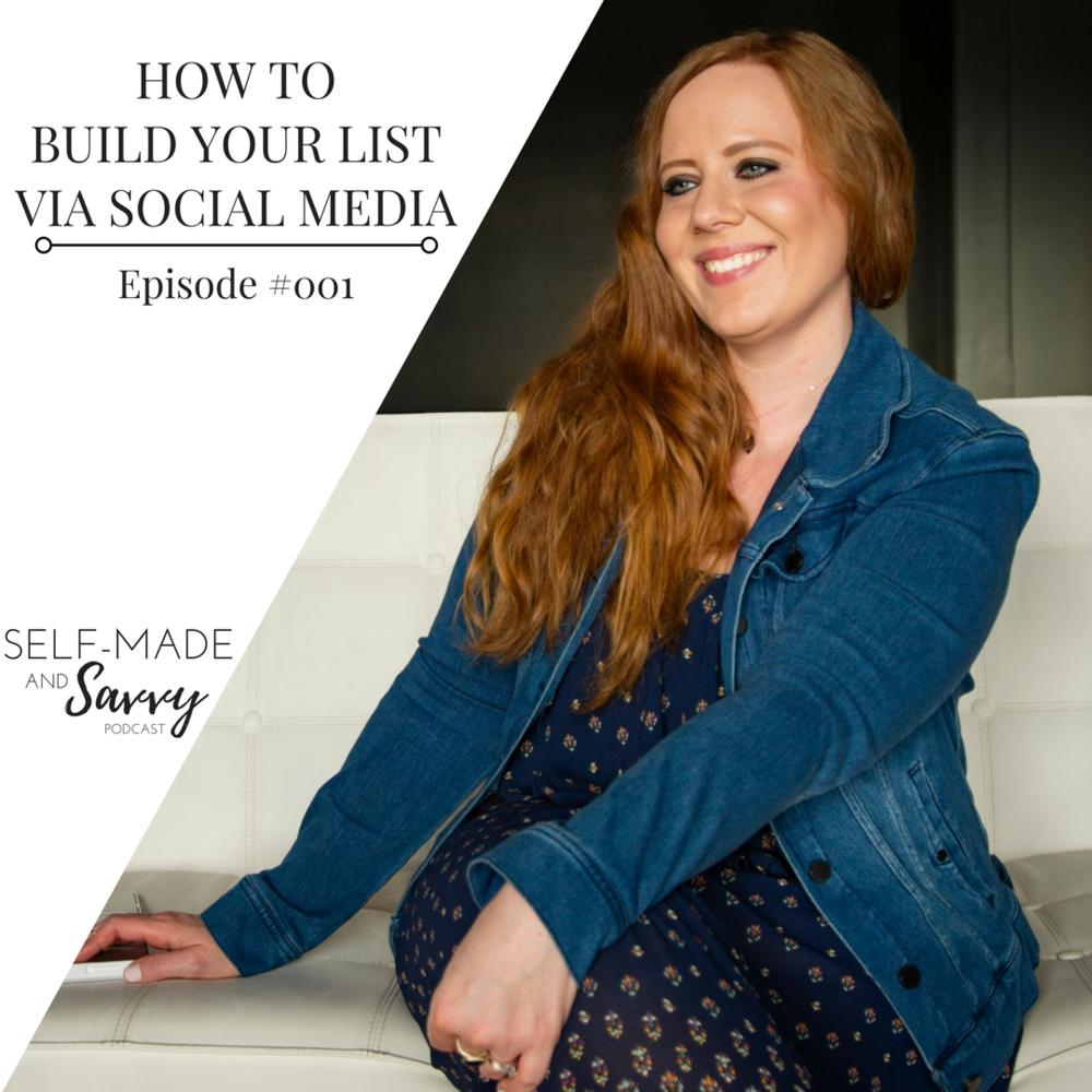 HOW TO BUILD YOUR LIST VIA SOCIAL MEDIA