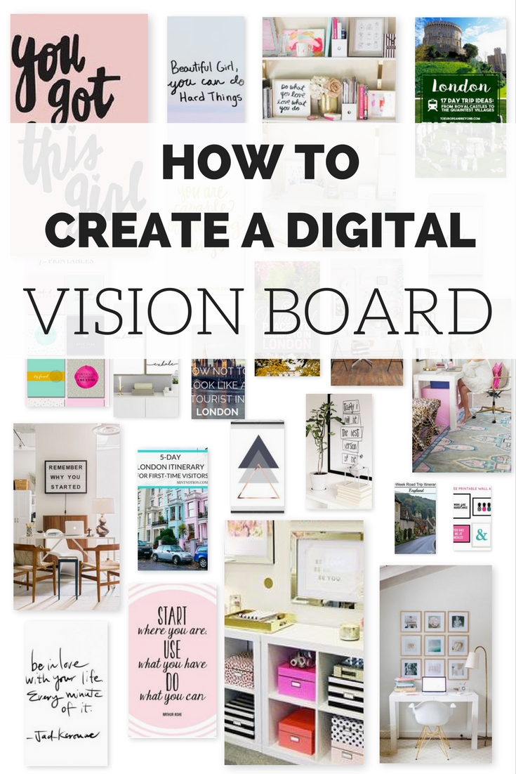 Home Design Vision Board Part - 42: Grab Your Free Vision Board Templates U003eu003e
