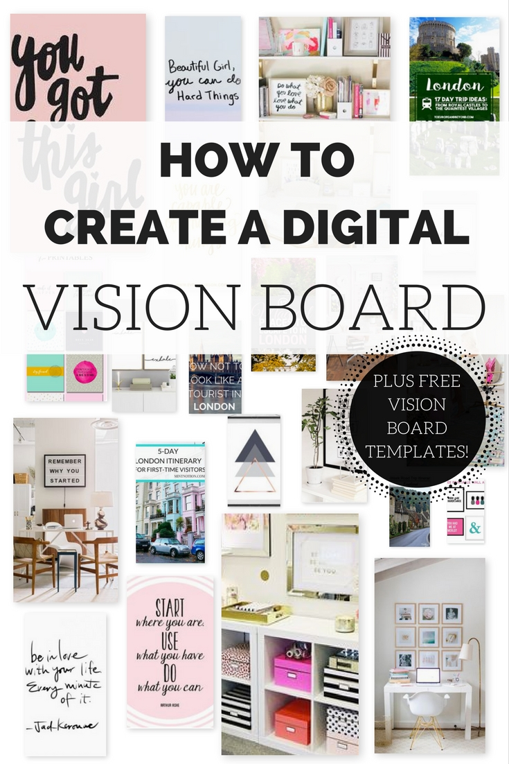How to create a digital vision board lindsay maloney for Vision board templates free