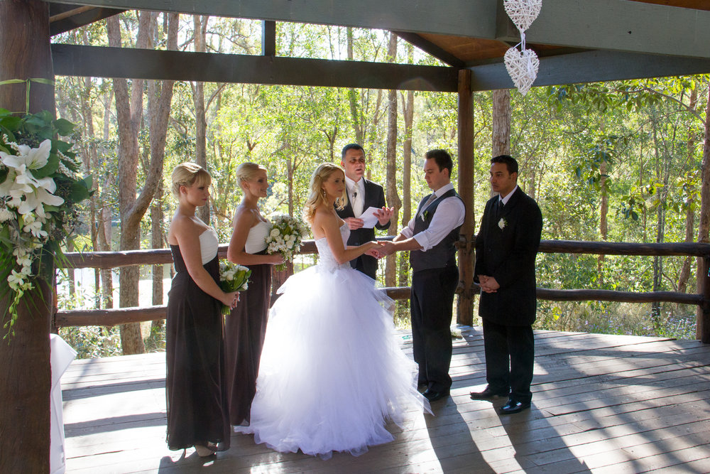Hi Neal,   Thank you for doing a fantastic job on our big day and your assistance in the lead up to it.  We really appreciate it and couldn't have hoped for anything more.   Thank you so much,   Sam and Chris Ceremony held at Walkabout Creek The Gap