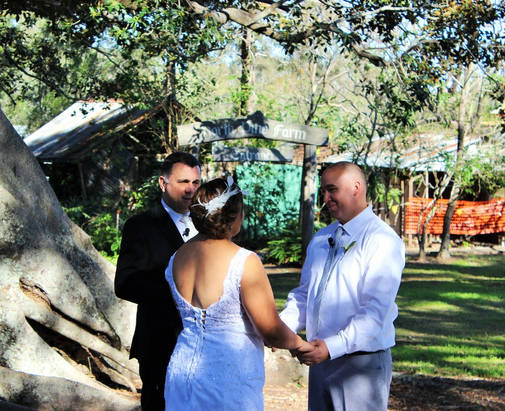 Thank you so much Neal for marrying Phil and I. We were blown away by your service from the day we had our first meet with you, to our special day. You made us feel comfortable and our guests couldn't stop raving on about how wonderful you were. Thank you, thank you, thank you.  Philip and Ani  Ceremony held at Old Petrie Town