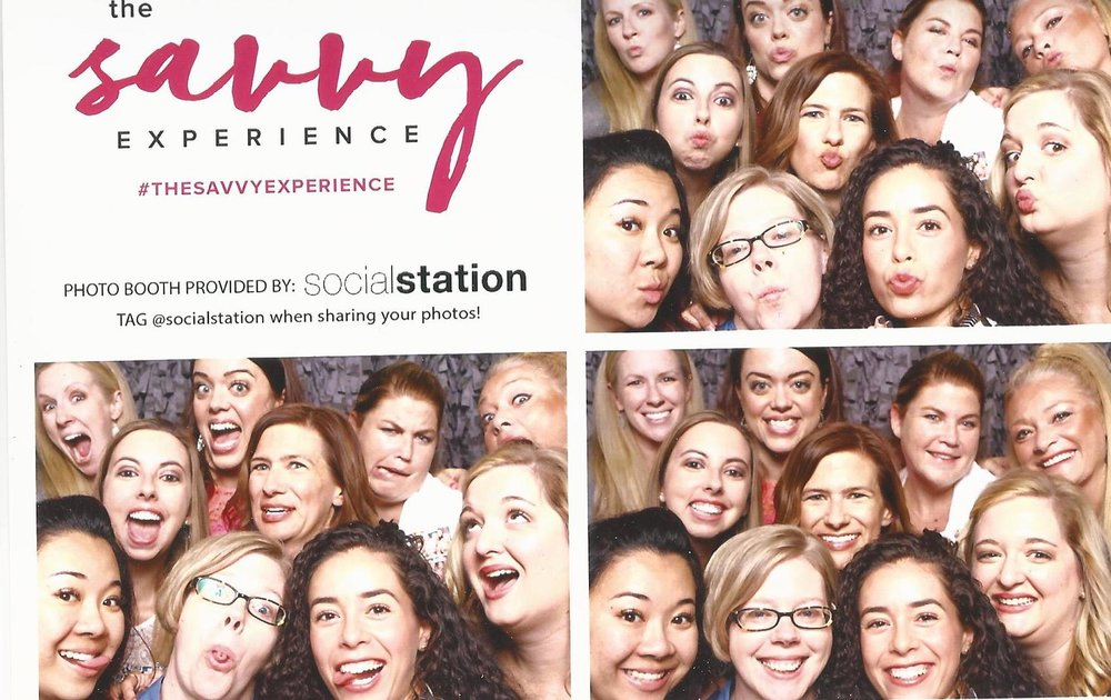 All the Savvy Business Circle sisters in attendance, with Heather Crabtree and our team leaders, Reina and Nevica. We may or may not like to have fun. Photo credit: @socialstation