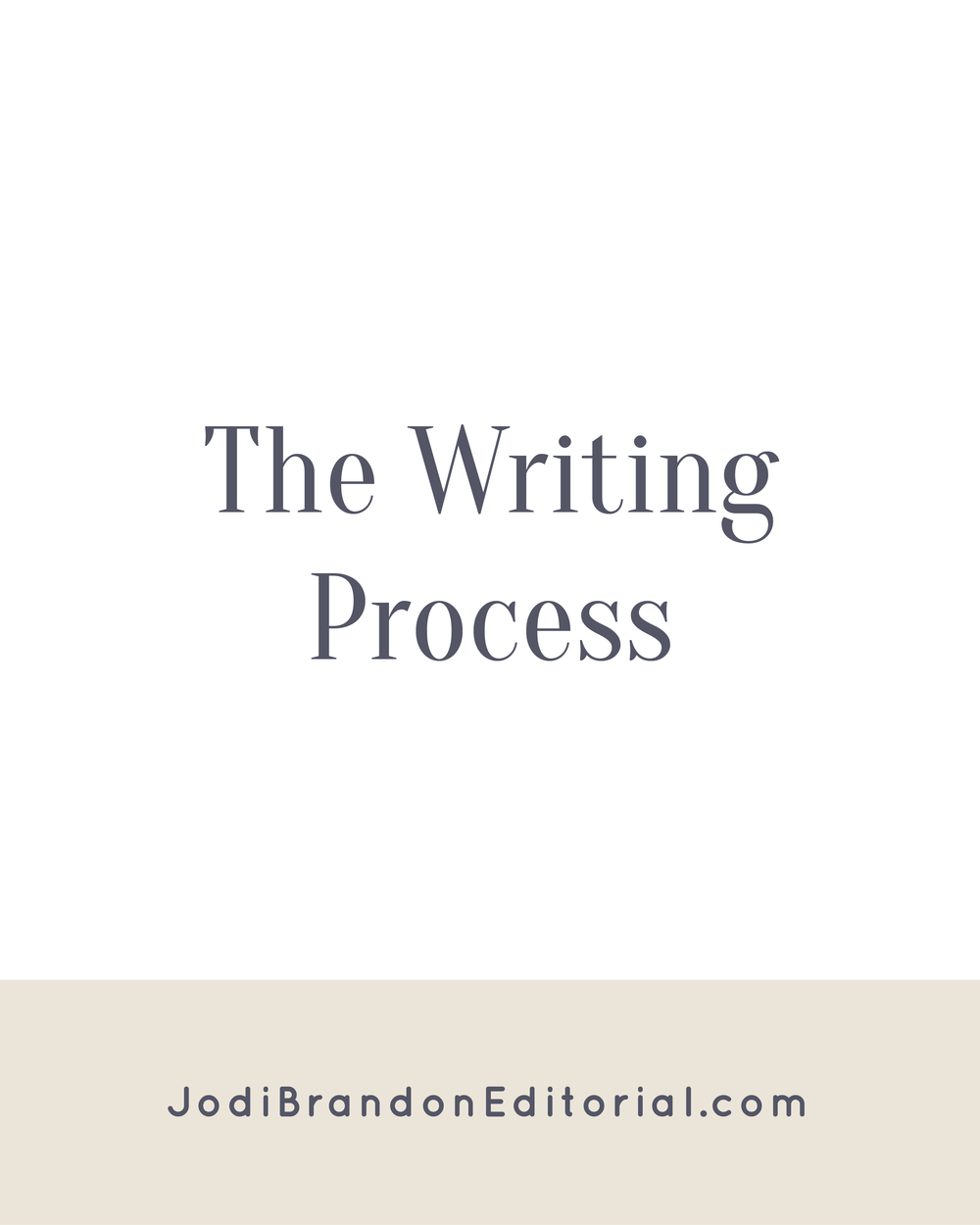 Sometimes you'll see the writing process as having four steps: writing, revising, editing, and publishing. In that scenario, prewriting is included in the writing phase. Prewriting is a separate step from writing. I cannot over-emphasize that point! If you sit down to write 50,000 (or more words) with a topic and a few key points, but nothing else, you're in trouble. Prewriting is the legwork and preparation to make the actual writing easier and faster. So really, the writing process has 5 steps.  |  Jodi Brandon Editorial