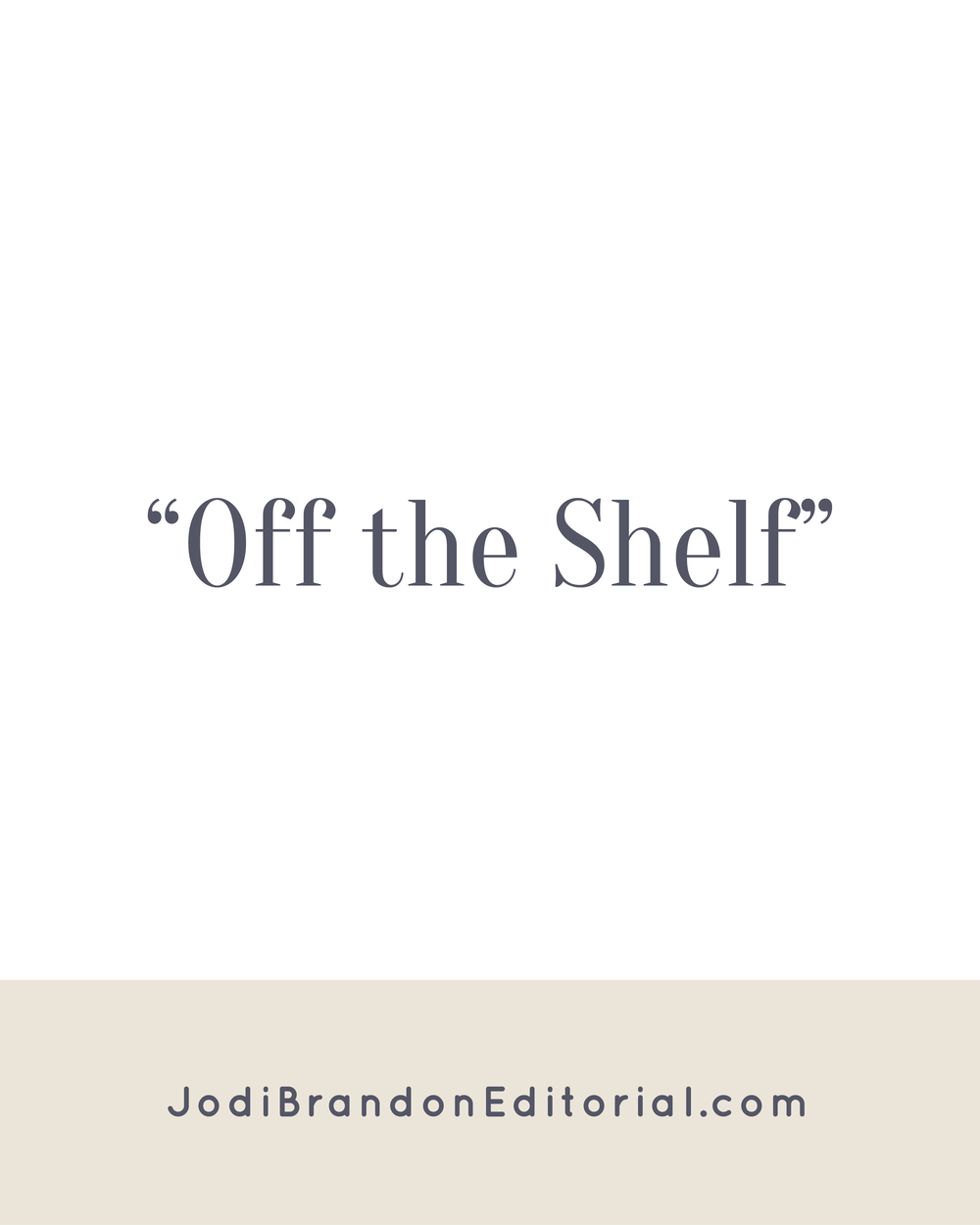 Welcome back to Off the Shelf, friends! We're trying something a bit different with Off the Shelf in 2017. Instead of me posting reviews each month, an entrepreneur friend and I will be trading reviews of the same book. This month features a review from my editorial colleague Liz Thompson of House Style Editing. Take it away, Liz!  The Happiness Equation By Neil Pasricha  |  Jodi Brandon Editorial