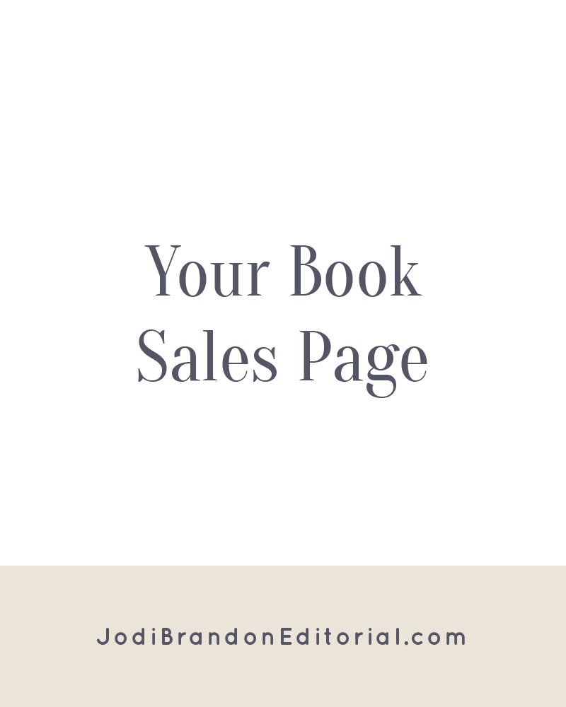 "Regardless of the format your sales page takes (whether you have a separate website for your book or it's a page on your current site), it's critical that you have one. You must have a way to capture emails to stay in touch with your readers, and Amazon, Barnes & Noble, and other booksellers are under no obligation to (nor do they) share customer information with you. Think of your book sales page as a ""one-stop shop"" for anything and everything a potential reader would want to know about your book.  