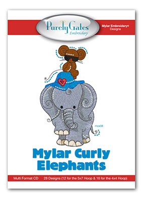 Mylar Curly Elephants