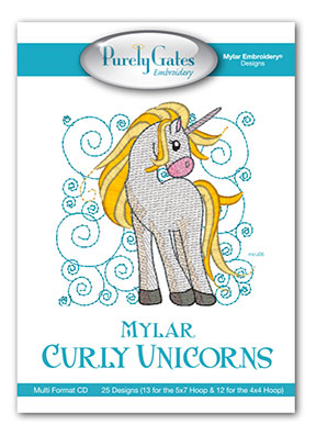 Mylar Curly Unicorns
