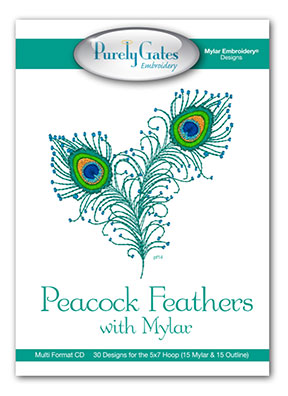 Peacock Feathers with Mylar
