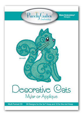 Decorative Cats Mylar or Applique