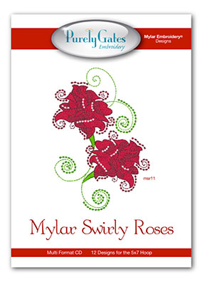Mylar Swirly Roses