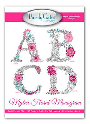 Mylar Floral Monogram