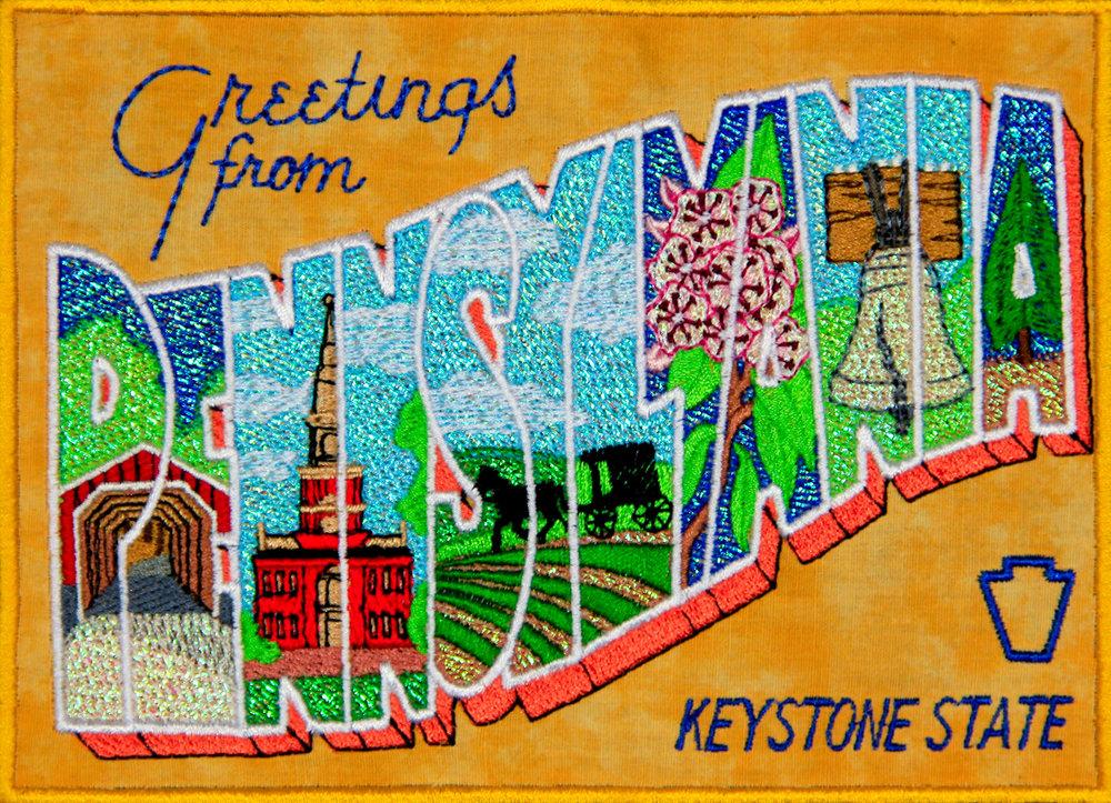 Mylar Pennsylvania Postcard