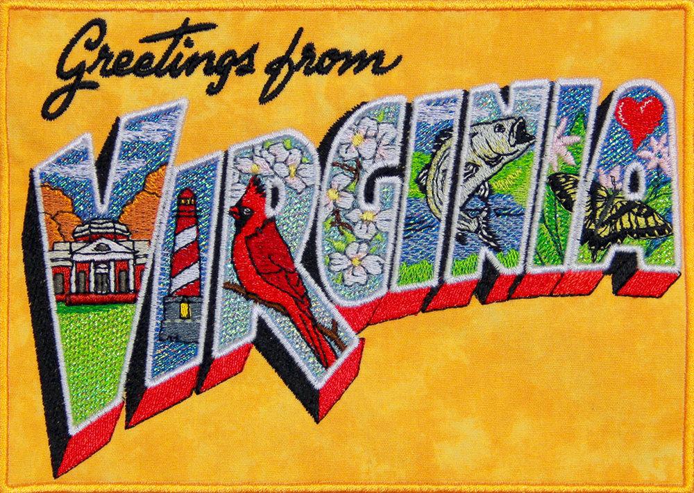 Mylar Virginia Postcard