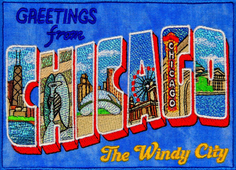 Mylar Chicago Postcard