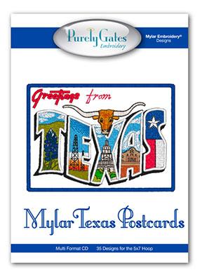 Mylar Texas Postcards