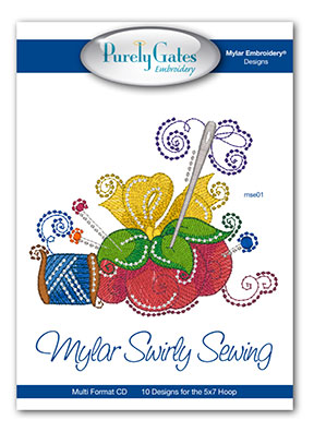 Mylar Swirly Sewing