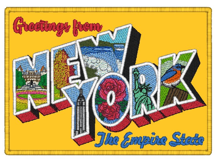 Mylar New York Postcard