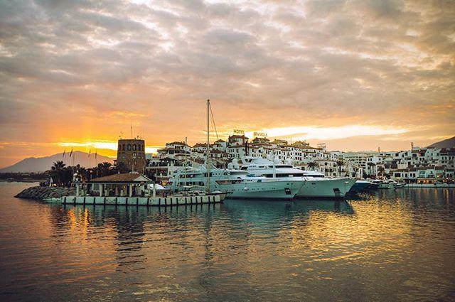The idyllic Puerto Banūs on the Spanish coast. #costadelsol #spain #travel #traveling #port #coast #yacht #boats #imagesupply