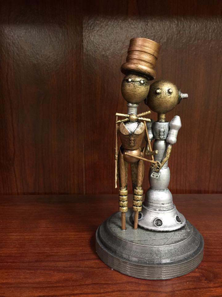 Steam Punk Custom 3D Printed Wedding Cake Topper.jpg