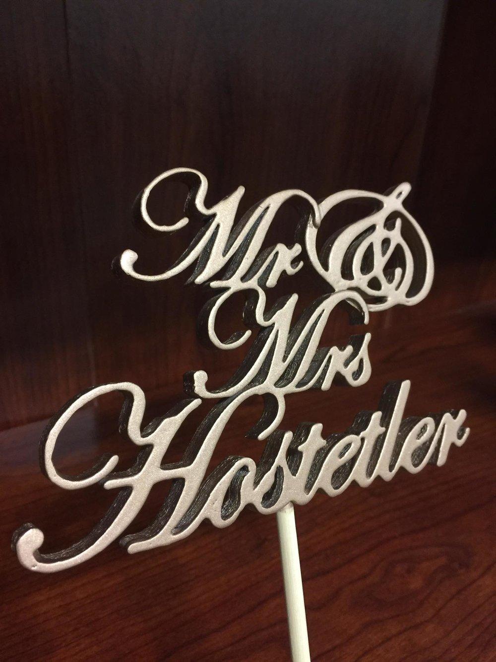Mr and Mrs Custom 3D Printed Wedding Cake Topper.jpg