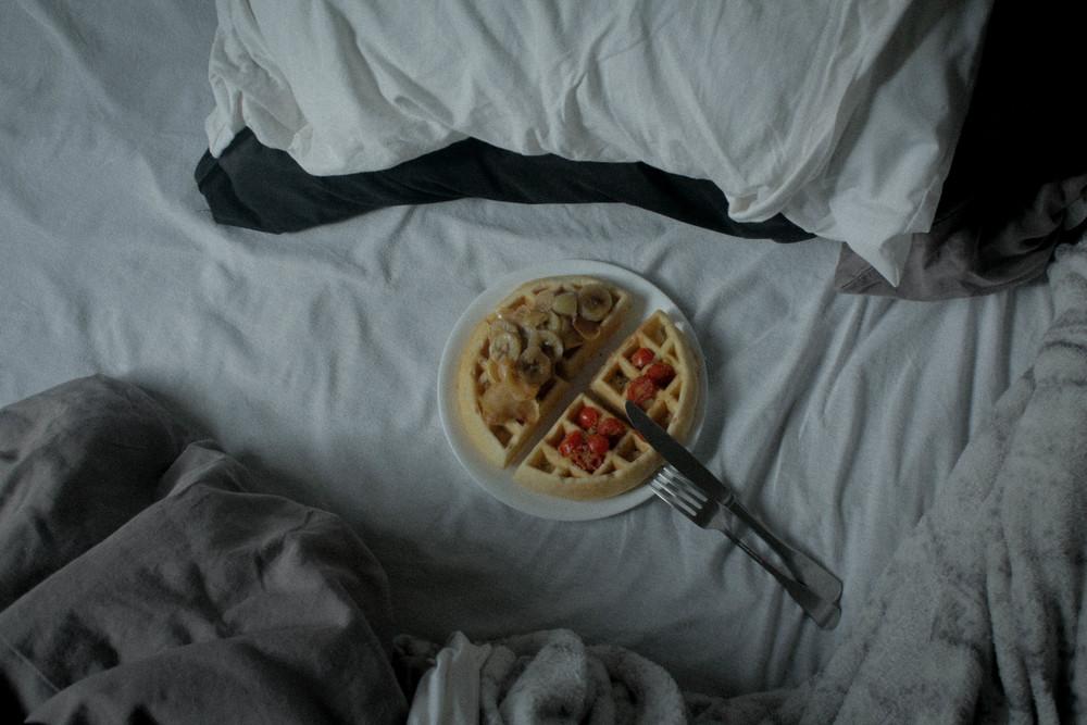 Morning waffle.