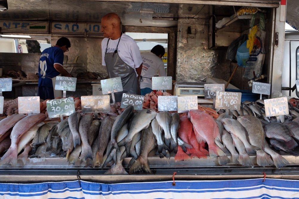 Fish Purveryors at the Nossa Senhora Friday Farmer's Market
