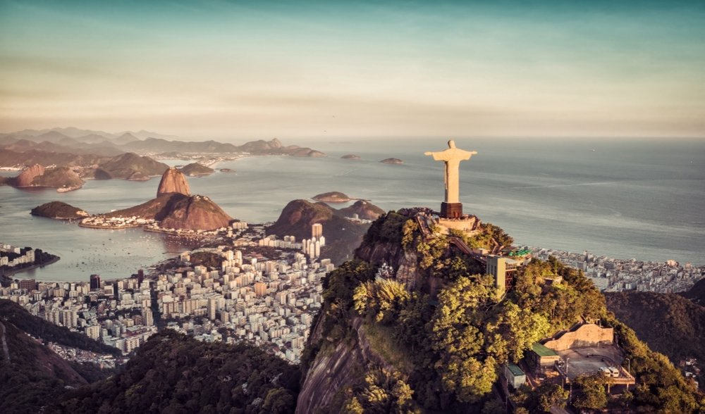 Christ The Redeemer seen from Sugarloaf Mountain
