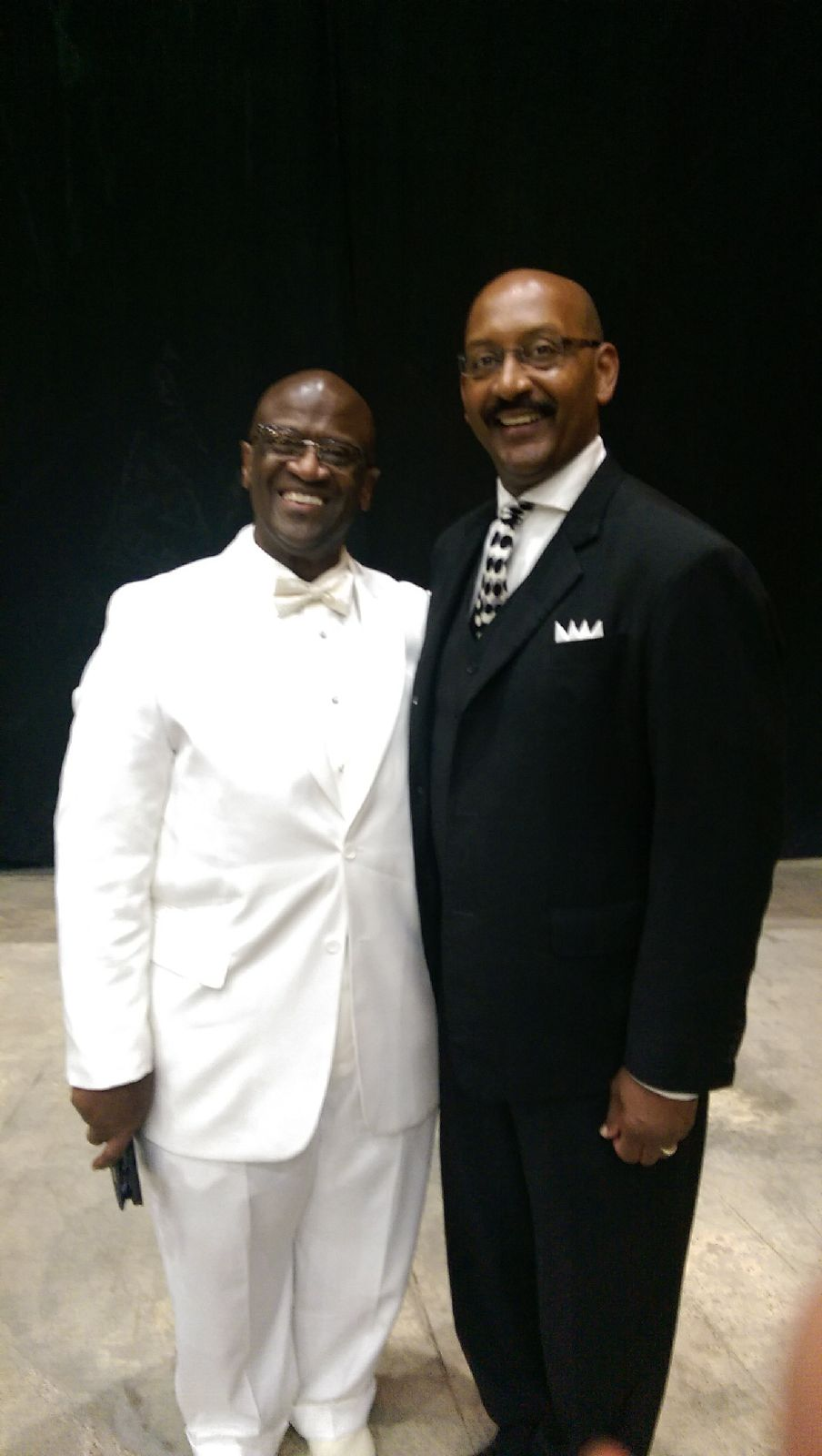 Pastor with Johnny Anderson, Deputy Chief of Staff, Programming and Planning for Louisiana Governor, John Bel Edwards