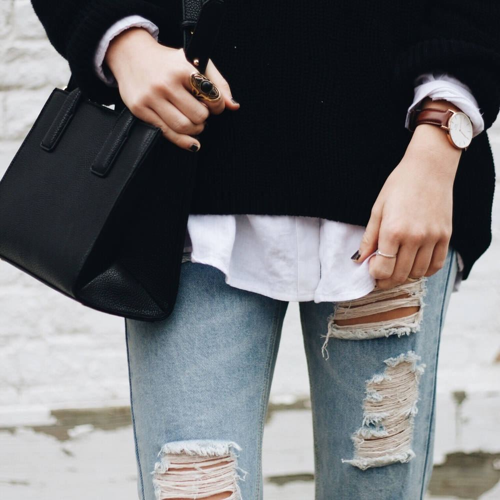 Denim / Brandy Melville Rings / Free People