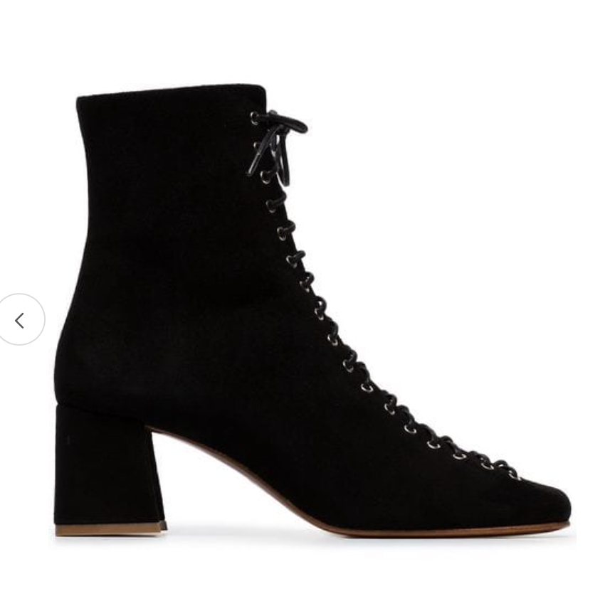 By Far Black Becca Suede Ankle Boots