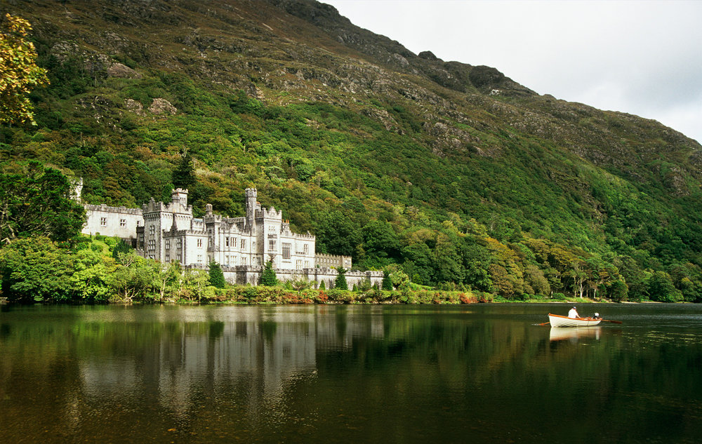 Exquisite Kylemore Abbey in Connemara; a remote yet enchanting destination in western Ireland. Photograph from Getty Images.
