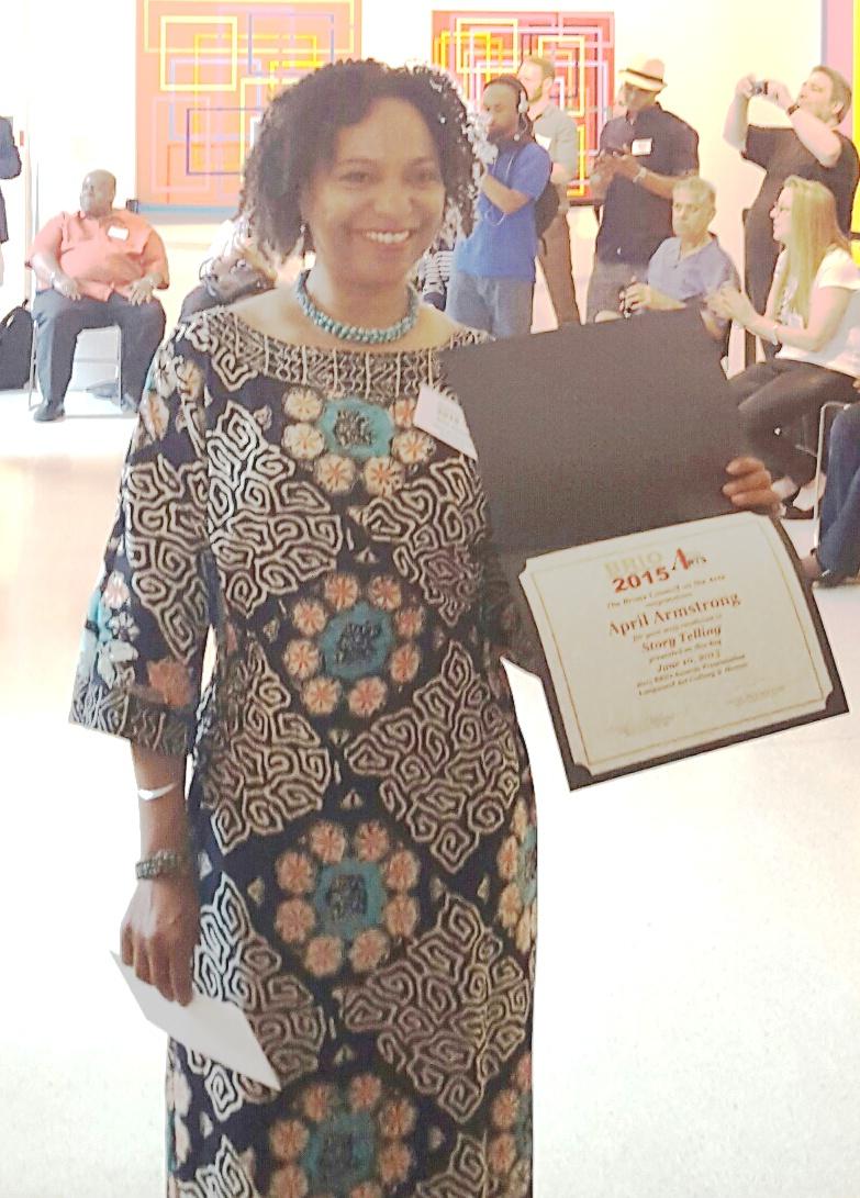 April holds 2015 Bronx BRIO Award