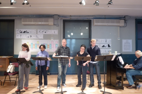 Rehearsing at New Dramatists in NYC