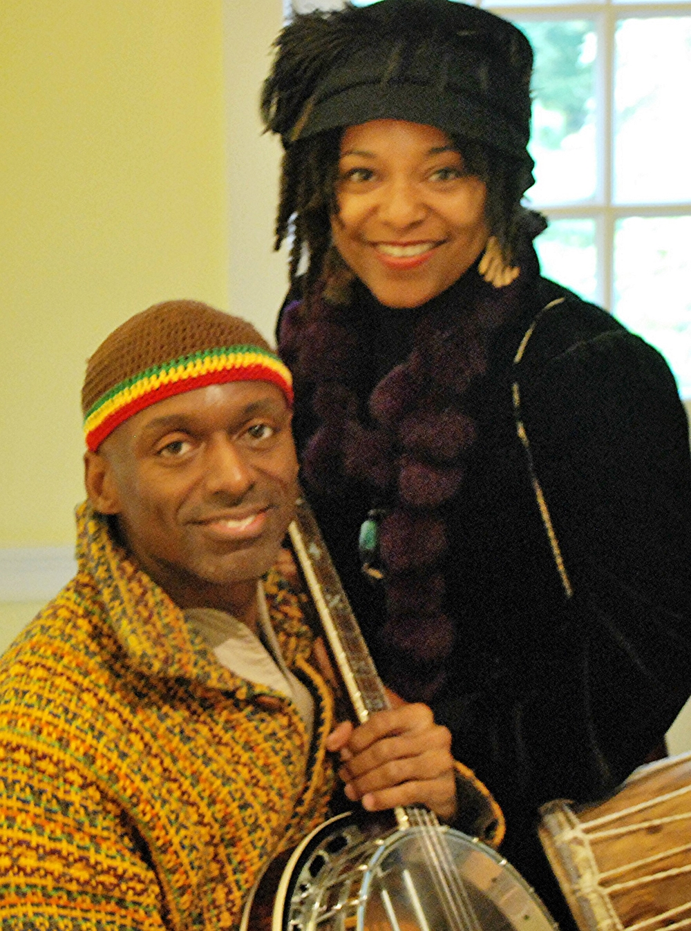 April and Ayodele at Legends at Historic Hudson Valley's Washington Irving's Sunnyside