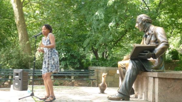 Storytelling at the Hans Christian Andersen Storytelling Statue