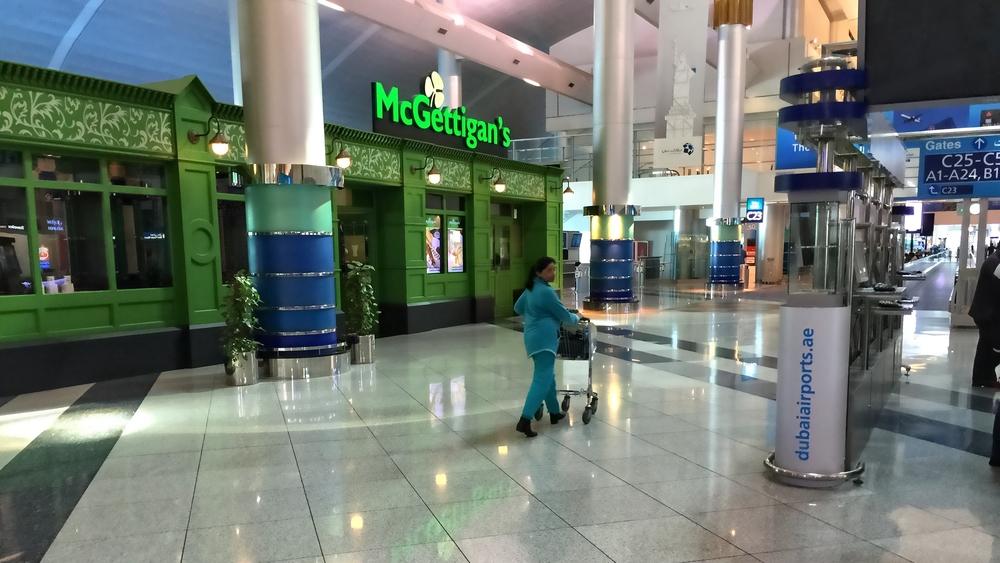 Geeta at Dubai International Airport