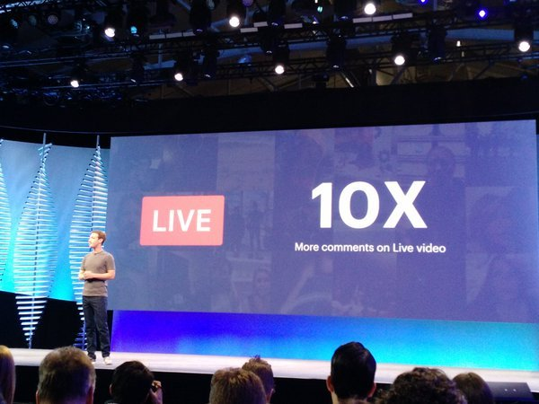 Apr 18th, Facebook F8 Developer Conference, Mark revealed future plan for Facebook live.