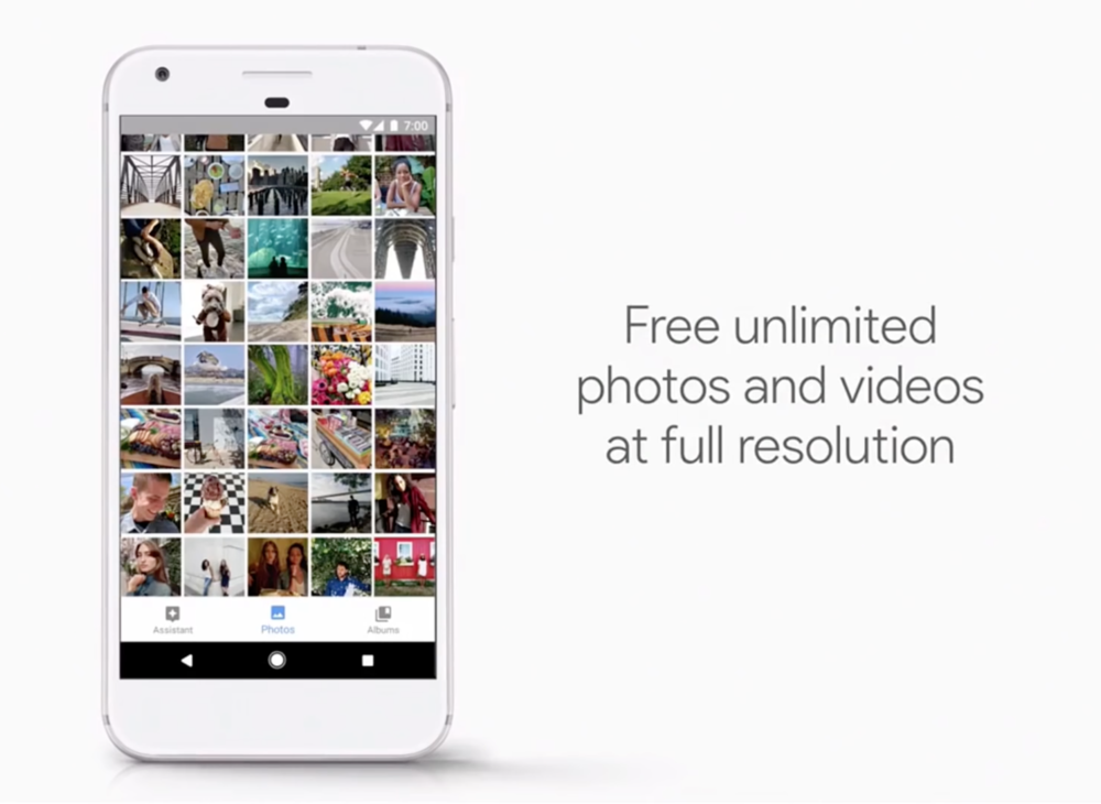 Oct 4th, Google announced google pixel would come with unlimited storage for photos and videos.