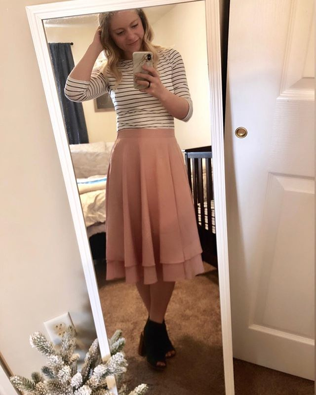 I found the PERFECT addition to my capsule wardrobe at @target yesterday 😍and I just had to share. I've struggled to find white tops that I don't have to wear another shirt underneath. This one isn't see through and is SO soft 😍😍 Easily one of my favorite pieces 💕(So is this skirt 😂 probably wear it at least once a week)
