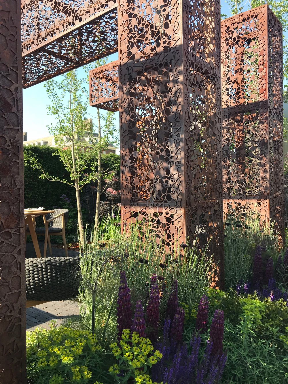 The Urban Flow garden had beautiful 'fretwork'
